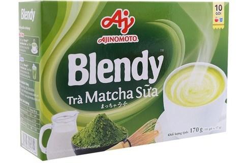 Пудровый чай матча Blendy со сливками 3в1 - Коробка 24х10 штук.