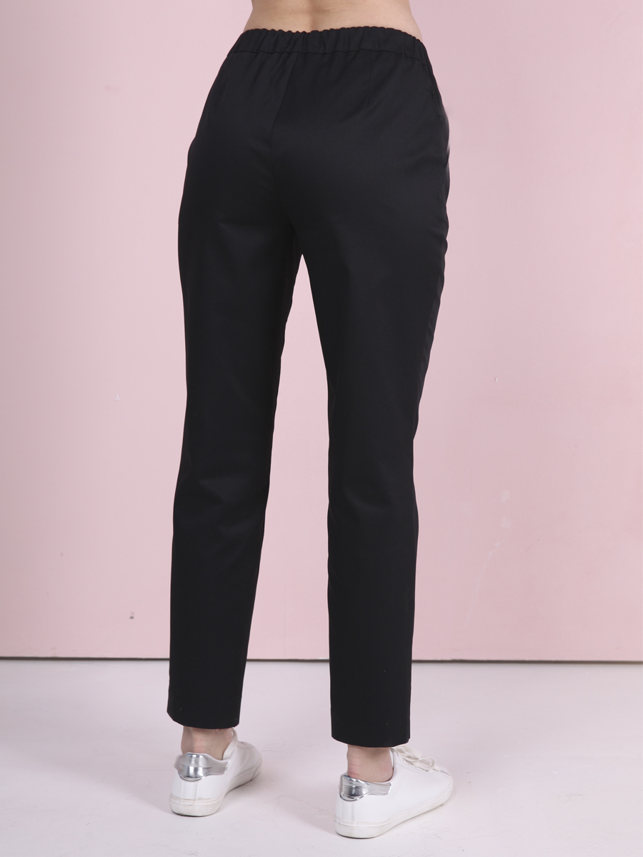Купить черные медицинские брюки Б-122|MediS.moda