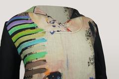 Платье Tessy 6606 лен абстракция к/р
