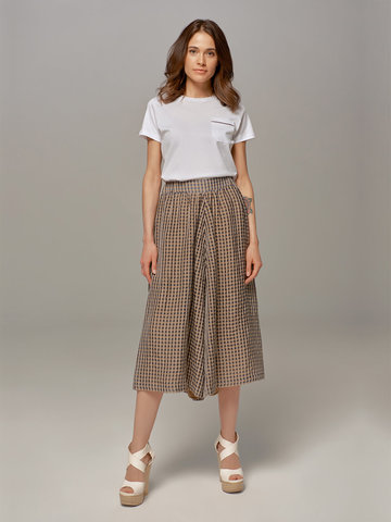 Женская юбка-брюки коричневого цвета в клетку Olmar GentryPortofino - фото 1
