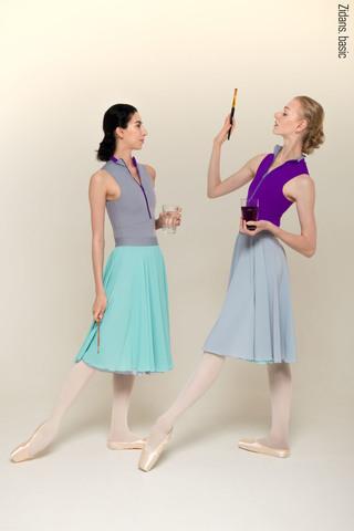 H2O двусторонняя юбка | серый-бирюзовый