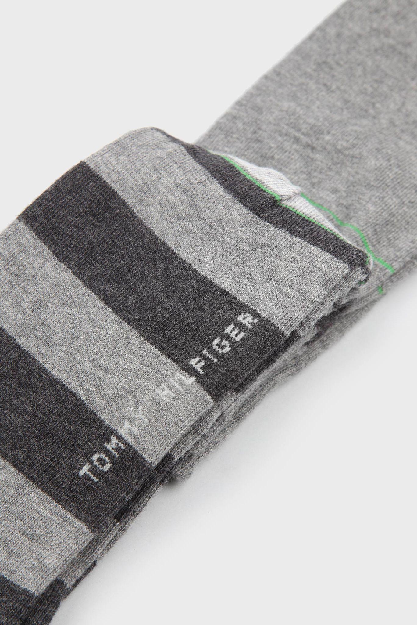 Мужские серые высокие носки (2 пары) Tommy Hilfiger