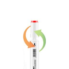 Набор двусторонних спиртовых маркеров KALEQI