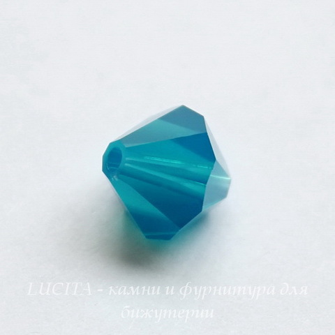 5328 Бусина - биконус Сваровски Caribbean Blue Opal 4 мм, 12 штук ()