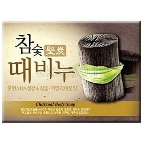 Мыло с эффектом скраба древесный уголь Mukunghwa  Hardwood Charcoal Scrub Soap