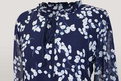 Блузка Gracjia ворот рюш завязка листочки