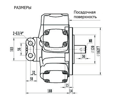 Гидромотор IPM2-280