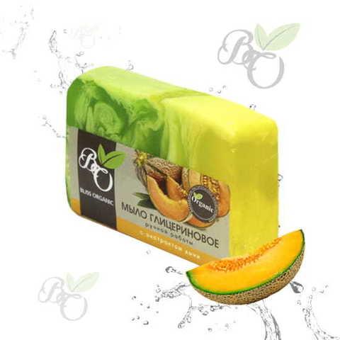 Глицериновое мыло ручной работы «Дыня», Bliss organic 100 гр