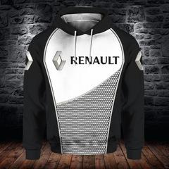 Толстовка утепленная 3D принт, Renault (3Д Теплые Худи Рено) 03