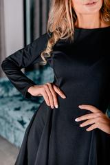 Черное платье с рукавами клеш интернет магазин