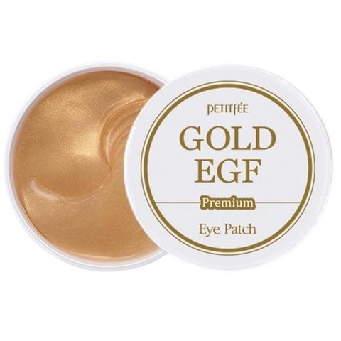Гидрогелевые патчи для век Petitfee с золотыми частицами и фактором роста EGF 60 шт