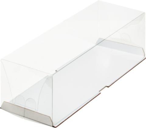 Коробка для рулета с пластиковым куполом, 30*10*9см, белая