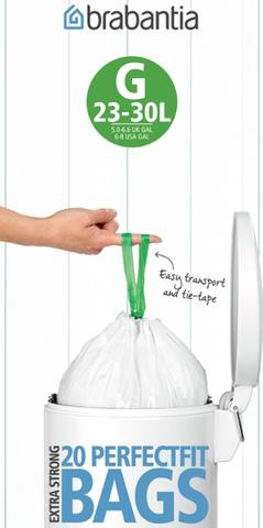 Пакет пластиковый 23/30л 20шт, артикул 246265, производитель - Brabantia