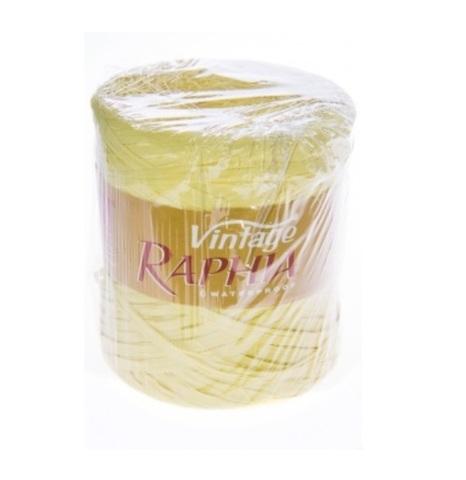 Рафия искусственная Винтаж 200 м Цвет: пастельный желтый