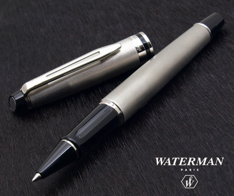 Ручка-роллер Waterman Expert 3, цвет: Stainless Steel CT, стержень: Fblk123