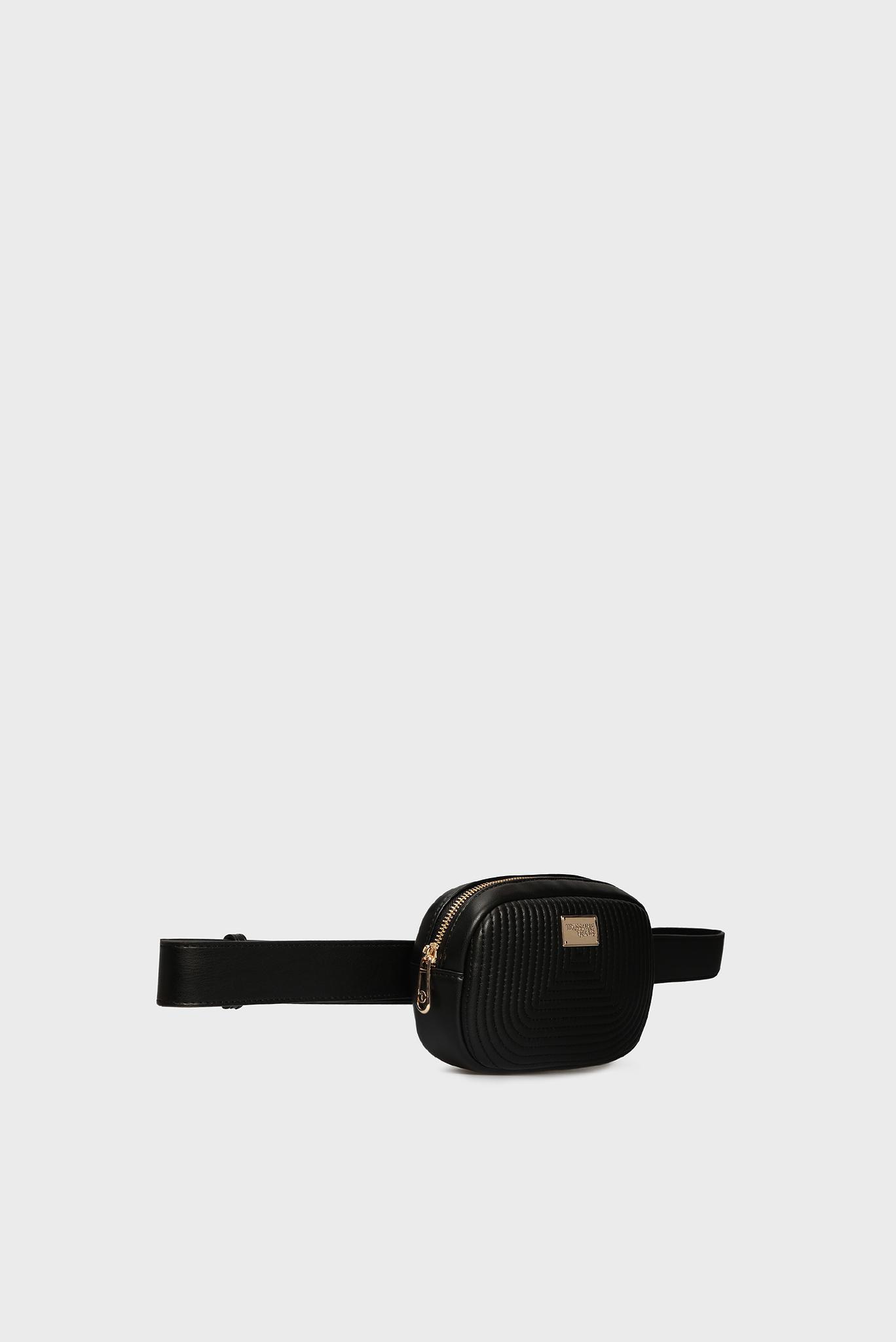 Женская черная поясная сумка FRIDA Trussardi Jeans