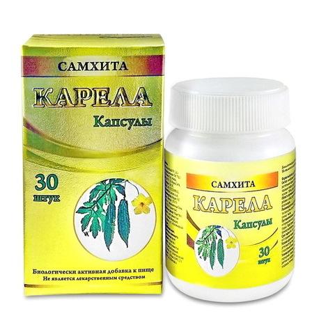 Карела, Самхита. Общеукрепляющее средство. Понижение уровня Сахара и Холестерина, 30 капсул