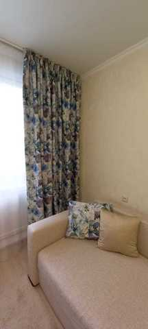 Шторы блэкаут, цветы голубые. Ш- 100/150/200 см., В-250/270 см. В упаковке - 2 шт. Арт. КL-11-01