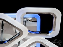 Хромовая Светодиодная люстра с димером и подсветкой 110W