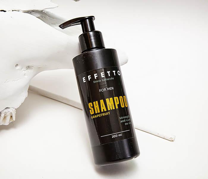 CARE141-2 Натуральный мужской шампунь EFFETTO «Грейпфрут» (200 мл)