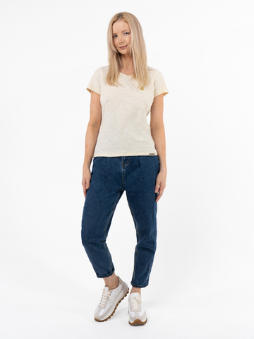 Женская футболка «Великоросс» цвета слоновая кость