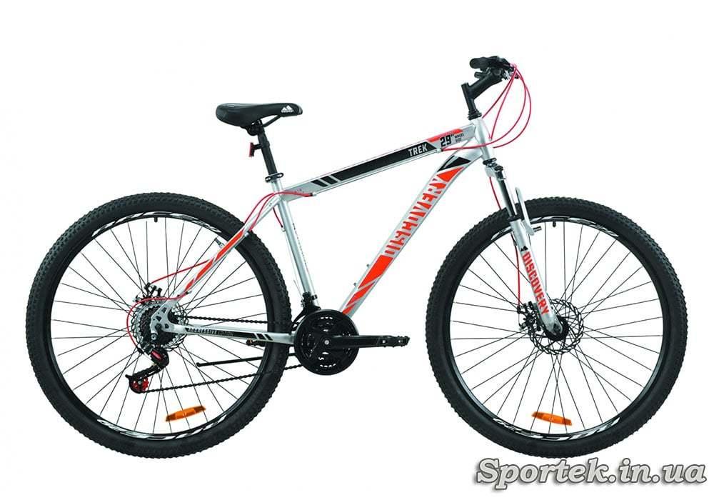 Гірський універсальний велосипед Discovery Trek 2020 року - сіро-чорно-помаранчевий