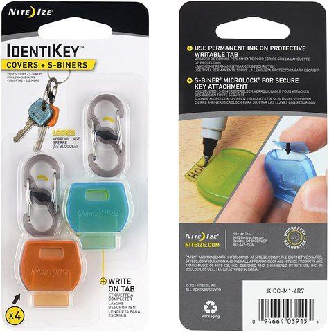 Маркеры для ключей IdentiKey, 4 шт. ассорти + S-Biner MicroLock