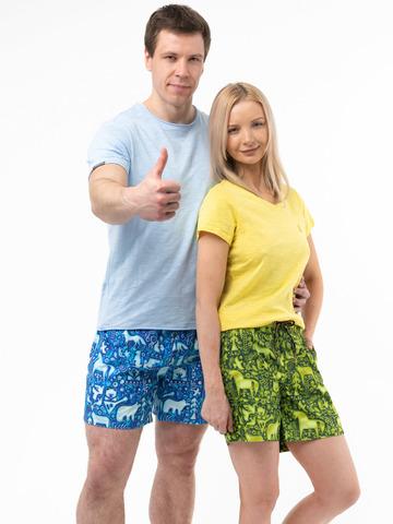 Пляжные шорты «Зеленый лес»