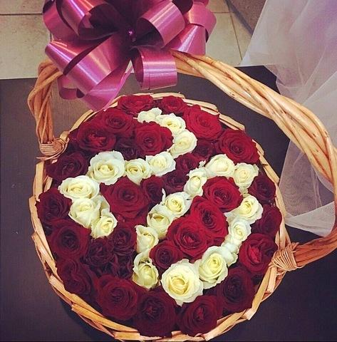 Розы в корзинке #65391