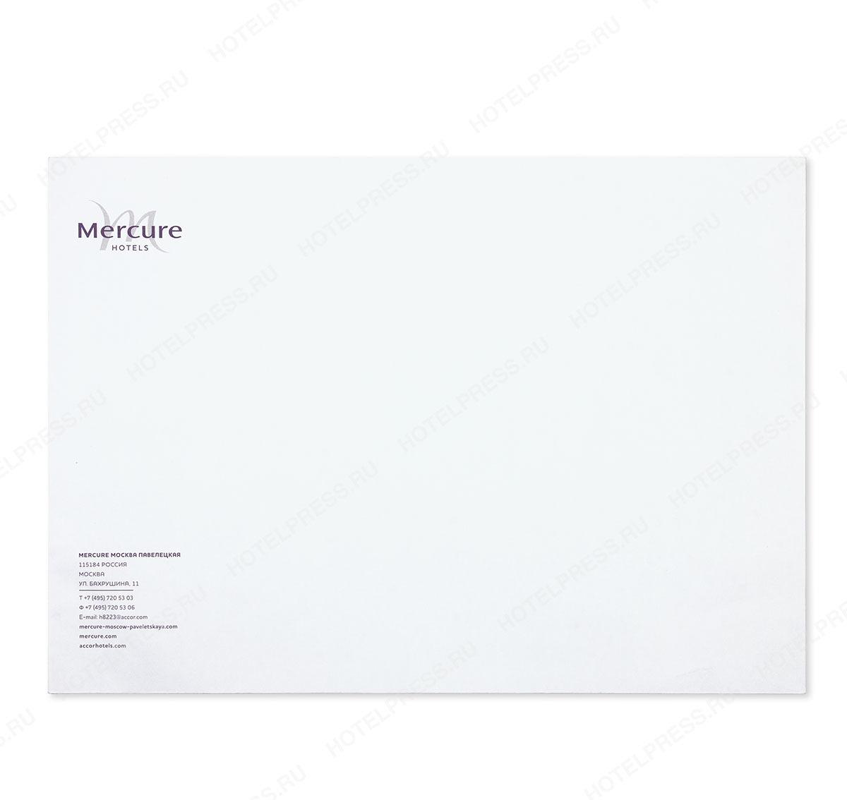 Фирменный белый конверт формата С4