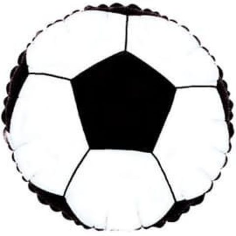 Фольгированный шар круг , Футбольный мяч, 46 см