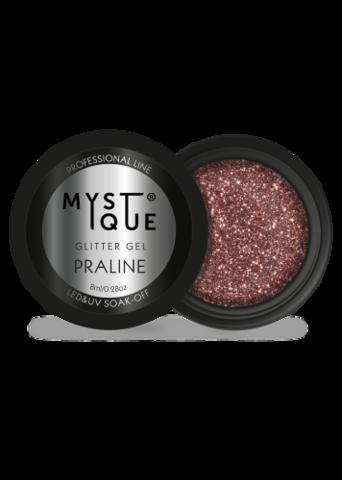 Mystique Глиттер гель «Praline» 8 г