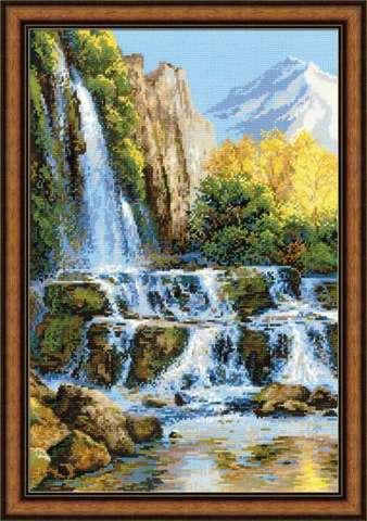 Набор для вышивания крестом «Пейзаж с водопадом» (1194)