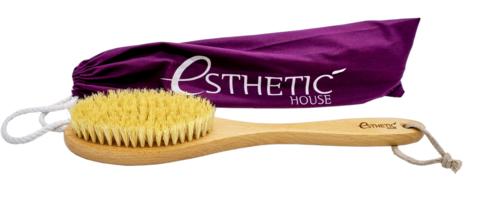 Дренажная щётка для сухого массажа ESTHETIC HOUSE Бук / Сизаль /Лак 39*8*4,5 см