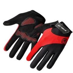 Велосипедные перчатки Wheel Up длинные (красные)