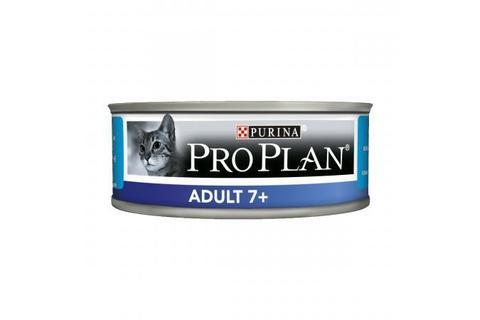 Консервы Purina Pro Plan для кошек старше 7 лет, паштет с тунцом, 85 г