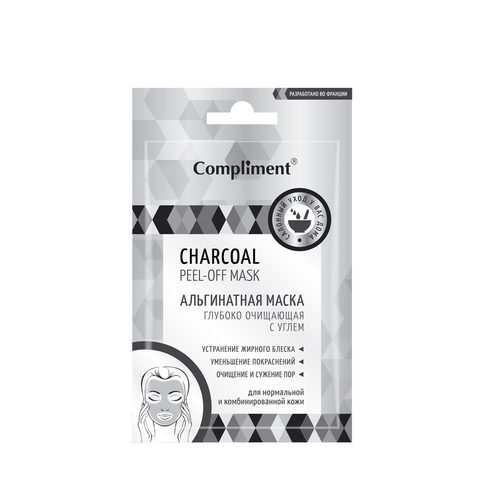 Compliment CHARCOAL peel-off mask Альгинатная маска Глубоко очищающая с углем