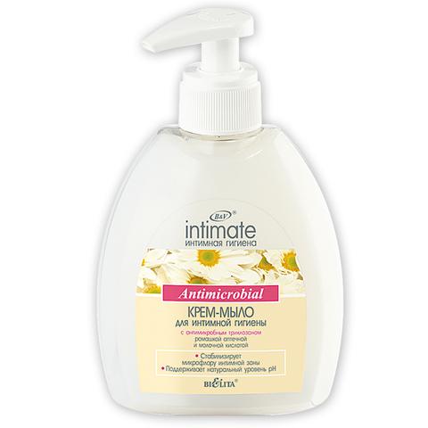 Крем-мыло для интимной гигиены Antimicrobial, 380 мл. Intimate