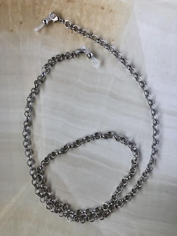 Цепочка для очков Моник, серебряный цвет