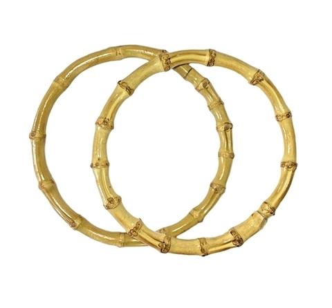 Ручки-кольца 15 см бамбуковые