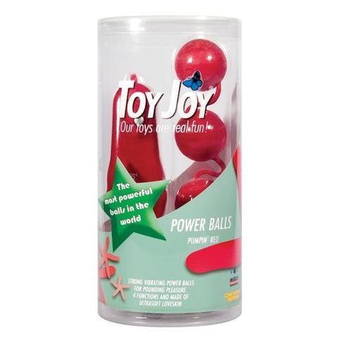 Вагинальные шарики с вибро POWER BALLS RED VIBR.4F.9599TJ