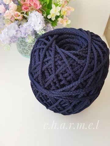 Темно-синий  Полиэфирный шнур 5 мм