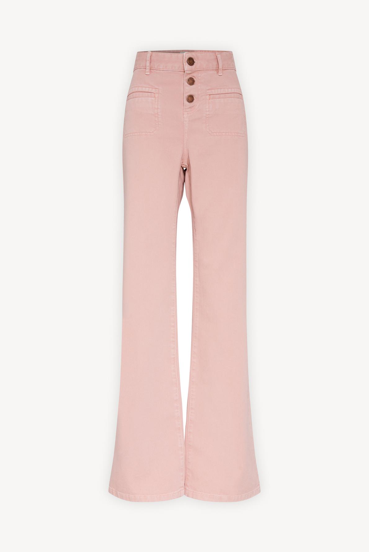 MONA - расклешенные брюки из хлопкового твила