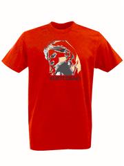 Футболка с принтом Курт Кобейн, Нирвана (Nirvana, Kurt Cobain) красная 001