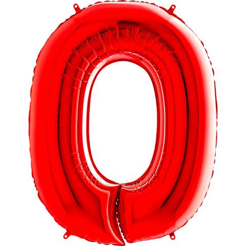 Цифра 0 (Красная)