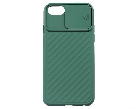 Чехол для iPhone 7/8/SE | с защитой объектива зеленый