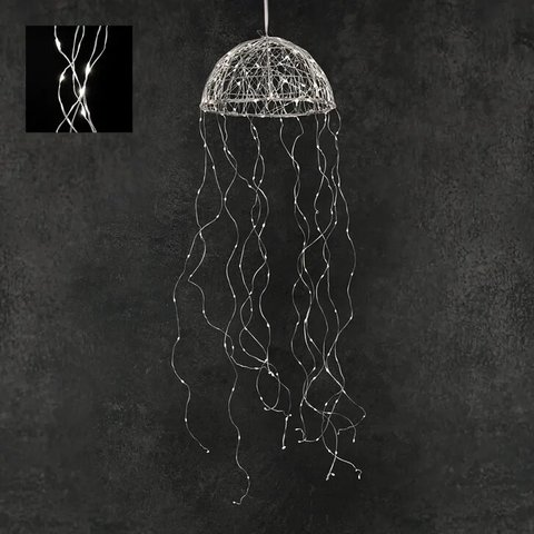 Гирлянда Медуза на серебряном проводе белый свет, для наружного и внутреннего использования