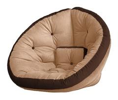 Кресло Farla Lounge Бежевое с тёмно-коричневым