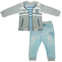 Папитто. Комплект кофточка в полоску и штанишки для мальчика FASHION JEANS вид 1