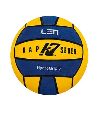 Официальный ватерпольный мяч KAP7 Official LEN Game Ball K7 5 yellow-blue Размер 5 мужской арт.B-K7-LEN-5-0107